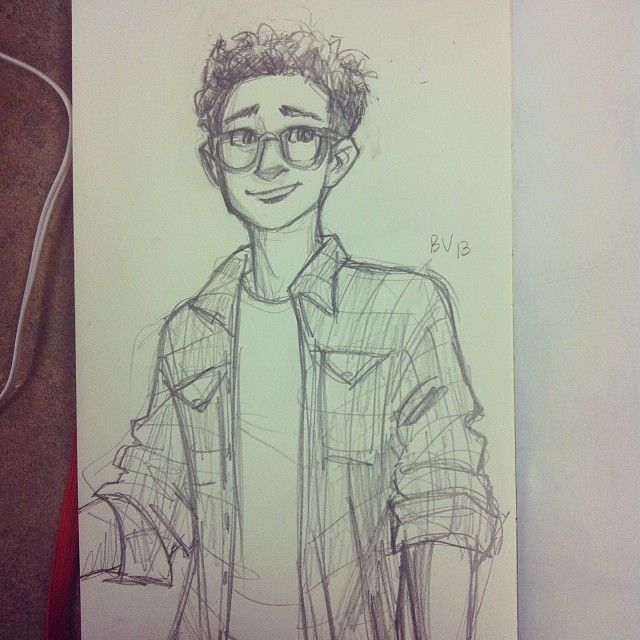 burdge (: she just drew a random guy she saw, and he happens to look a lot like how i imagine Simon Lewis!