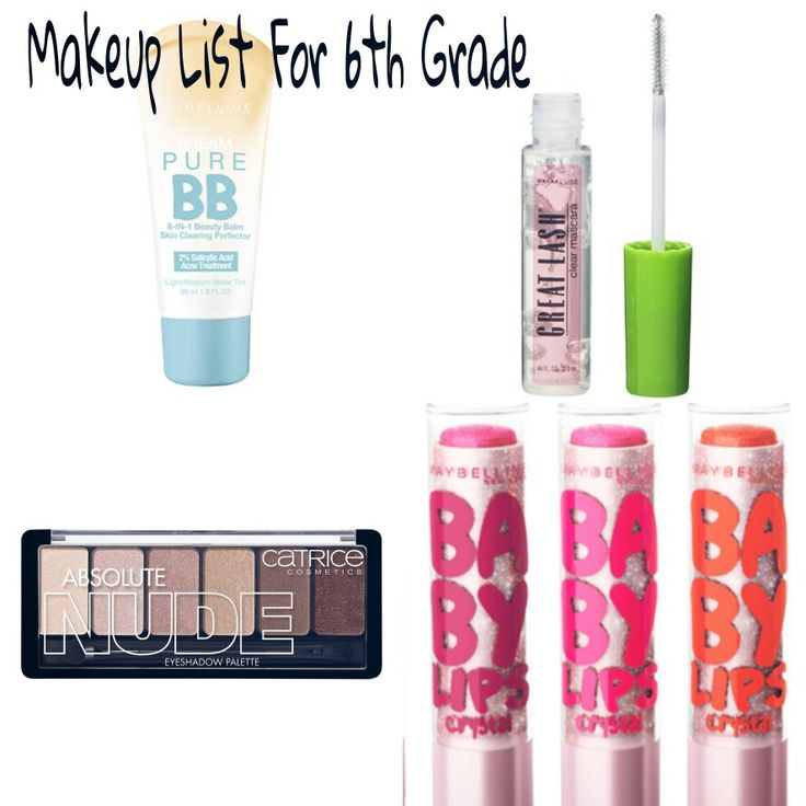 6th Grade Middle Schooler Collection. Light makeup for girls starting 6tg grade of middle school.