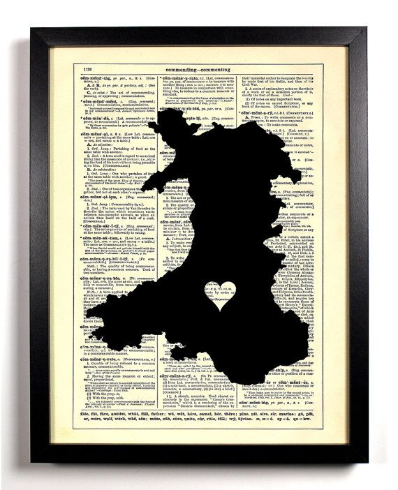 Map Of Wales With Heart Repurposed Book Upcycled Dictionary Art Vintage Book Print Recycled Vintage Dictionary Page Buy 2 Get 1 FREE