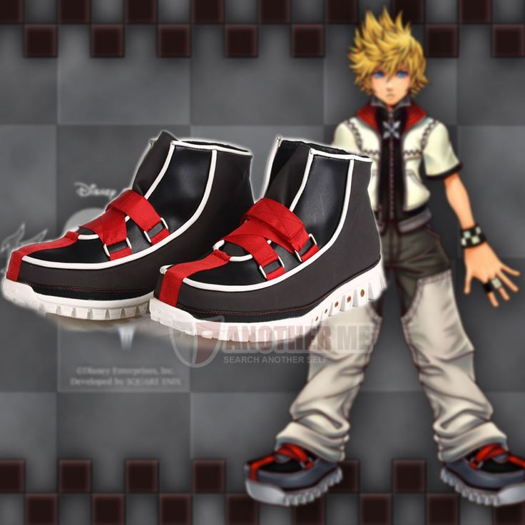 New Another Me Kingdom Hearts Roxas Cosplay Costume Shoes Boots | eBay