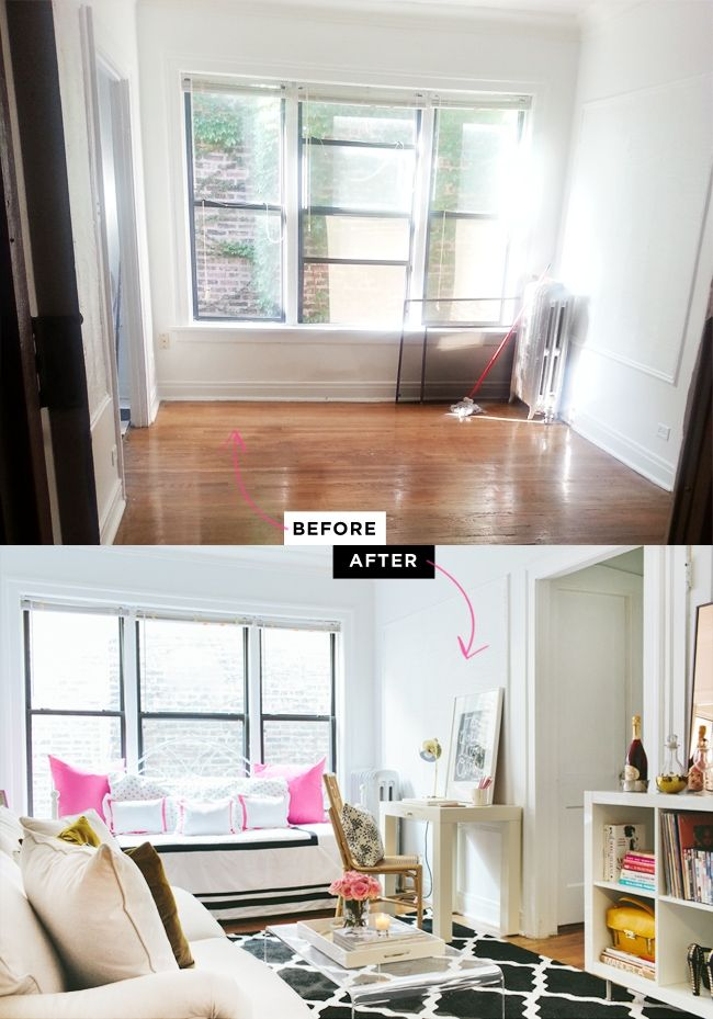 Studio Apartment Makeover: before and after