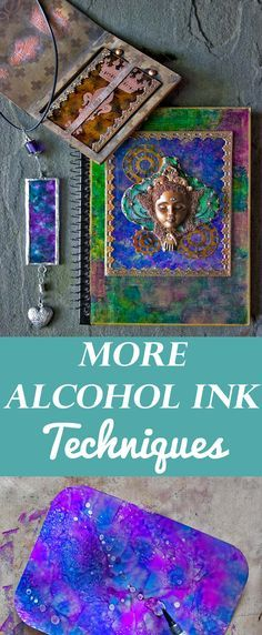 More Alcohol Ink Techniques by Heather Tracey for The Graphics Fairy! Such beautiful Craft techniques and tips for using Tim Holtz Alcohol Inks!
