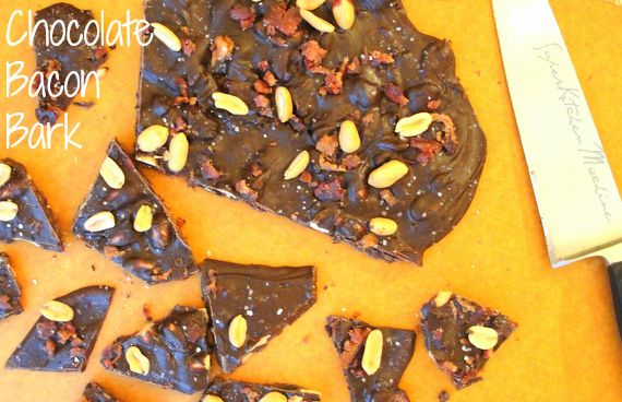 Salty dark Chocolate Bacon Bark recipe includes how to temper chocolate with Thermomix kitchen machine. For adventurous foodies and chocoholics only.