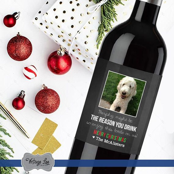 Dog Sitter Gift, Dog Groomer Gift, Vet Gift, Gift For Groomer, Gift for Pet Lover, Pet Doctor Gift, Dog Lover Gift, Christmas Wine Label Pet thank you wine ...