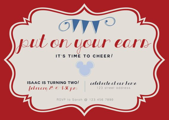 152 best design wine blog images on pinterest picture walls art cute hipster classic mickey mouse birthday invitation dimensions 5x7 stopboris Image collections