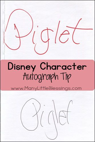 After peeking at the autograph books of someone in front of us in line at Disney World, I knew that we would need to use colored Sharpie markers for our autographs in the future. I have two distinct reasons that I'm glad we did.