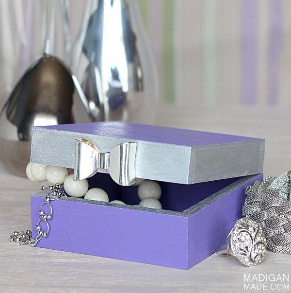 DIY trinket box with bow detail