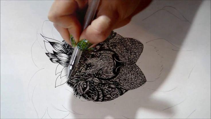 Рисунок лев, дудлинг ( my illustration of a lion, doodling )