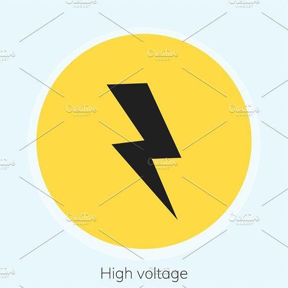 Illustration Of High Voltage Warning High Voltage Illustration Creative Illustration