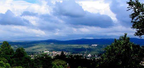 """Vista de La Falda desde un cortafuegos del Cerro """"La Banderita"""""""