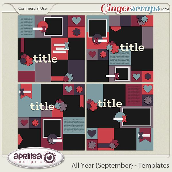 All Year {September} - Template Pack