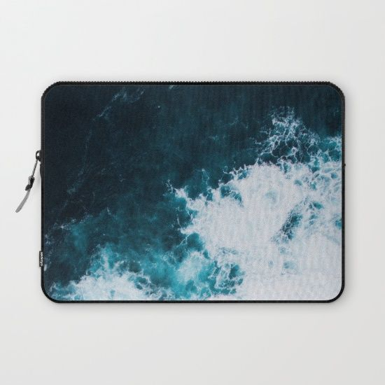 Wild ocean waves II Laptop Sleeve by Lostfog Co↟. Worldwide shipping available at Society6.com. Just one of millions of high quality products available.