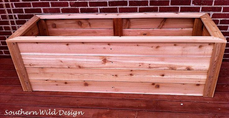 Build a planter box.                                                                                                                                                     More