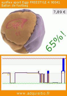 sunflex sport Eggi FREESTYLE 4 90041 Ballon de footbag (Sport). Réduction de 65%! Prix actuel 7,89 €, l'ancien prix était de 22,25 €. https://www.adquisitio.fr/sunflex/sport-eggi-freestyle-4