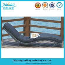 Hot sell cheap rattan sun lounger