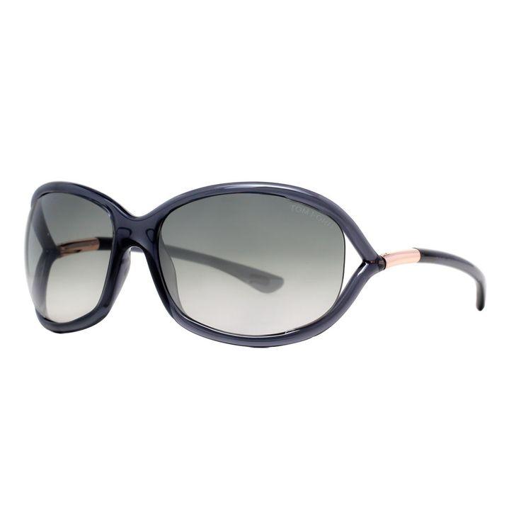 Tom Ford Jennifer TF8 0B5 Transparent Dark Grey Women's Soft Square Sunglasses #TOMFORD #Round