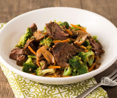 Freezer Meal Recipe: Bayou Bourbon Beef and Broccoli - Delicious over noodles or eaten alone for a great protein and veggie bowl option.