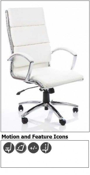 Attractive and affordable office furniture Daventry High Back Designer Leather Executive office chair - Pedder & Summers Ltd