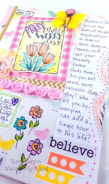 Using Adornit #ArtPlay Paintables for Devotion Journaling #ad #adornit #paintables #pray #tombow #documentedfaith #biblejournaling #coloring #cratepaper #bloom