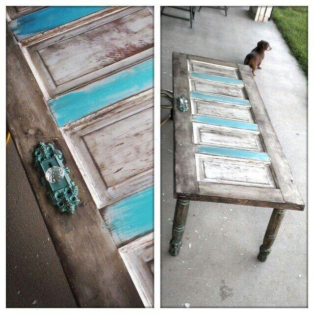 Old door coffee table