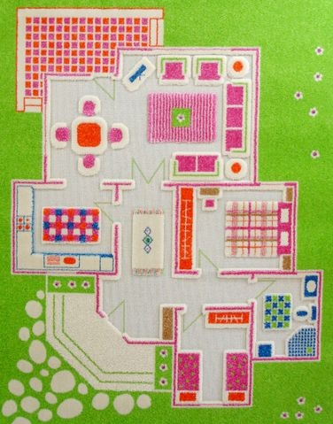 IVI Play Rug:  Playing Family, small