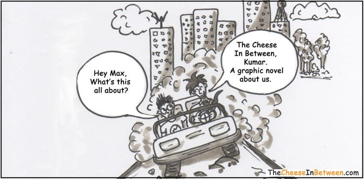 From the #graphic-novel, The Cheese In Between.