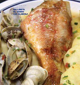 Recetas de Pescado y Marisco: Recetas de campeonato: Gallineta al horno con almejas