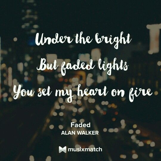 Faded songtext