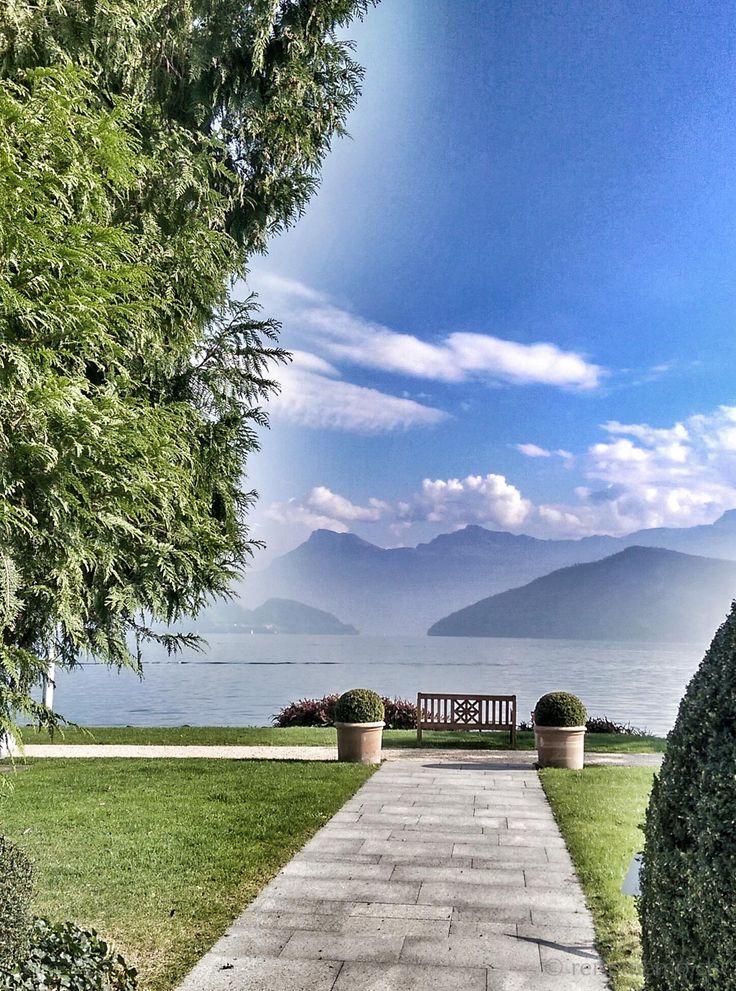 Park Weggis at the shores of Lake Lucern,.. #lago #Lucerna #Suiza