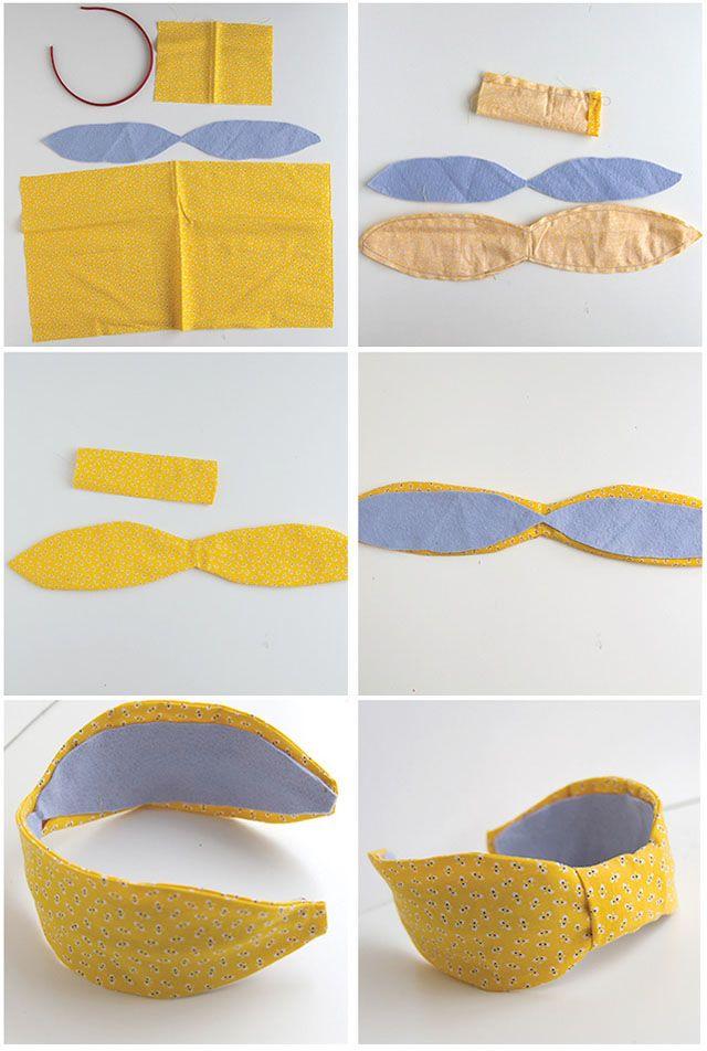 DIY - uma linda tiara de tecido