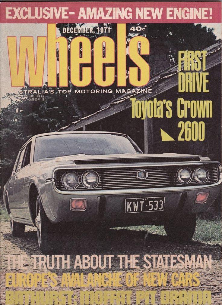 December 1971 vintage australian wheels magazine birthday