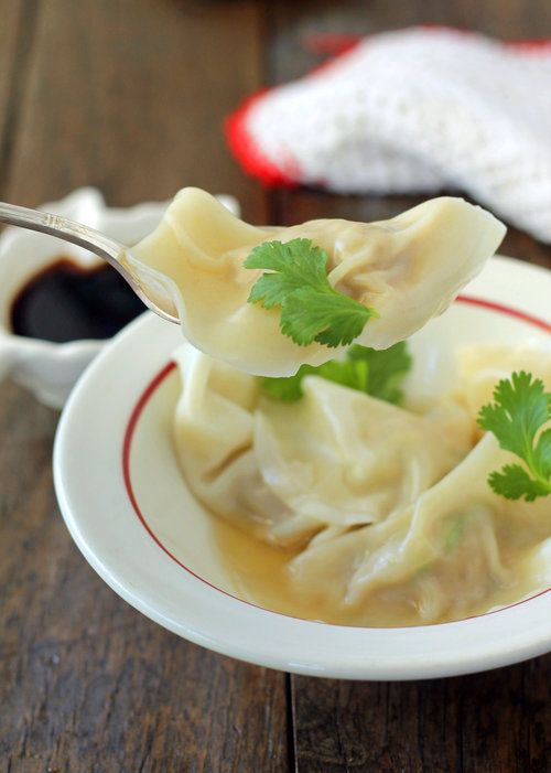 Ground Turkey Stuffed Wontons