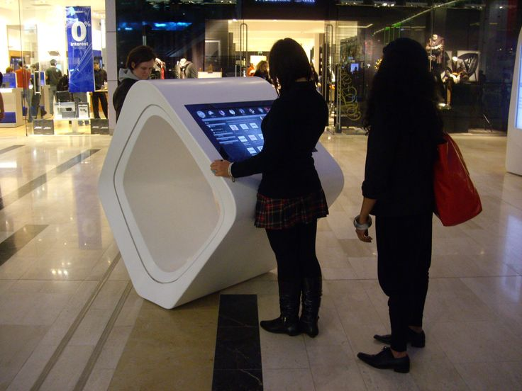 Digital wayfinding kiosk used to direct shoppers round the store #RetailTechnology #DOOHDAS