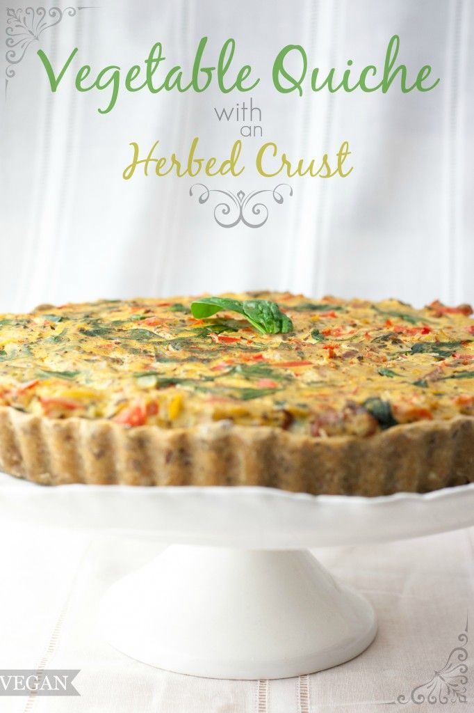 Vegetable Quiche + Herbed Crust | Produce On Parade                                                                                                                                                     More