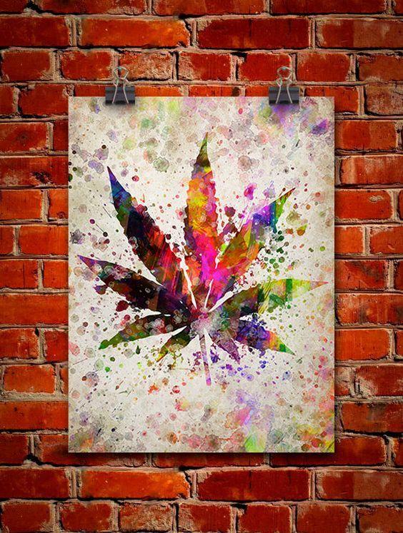 Pot Leaf Marijuana Art - CannabisTutorials.com