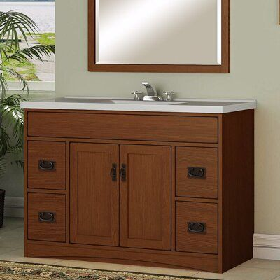 Sunnywood Mission Oak 48 Bathroom Vanity Base Only In 2020 Bathroom Vanity Base Wood Bathroom Vanity Bathroom
