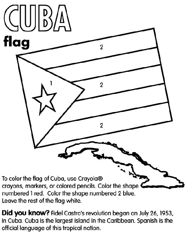 cuba country coloring | Cuba coloring page