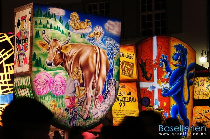 Laternenausstellung auf dem Münsterplatz #Basel an der Basler #Fasnacht 2009 (03.03.2009)