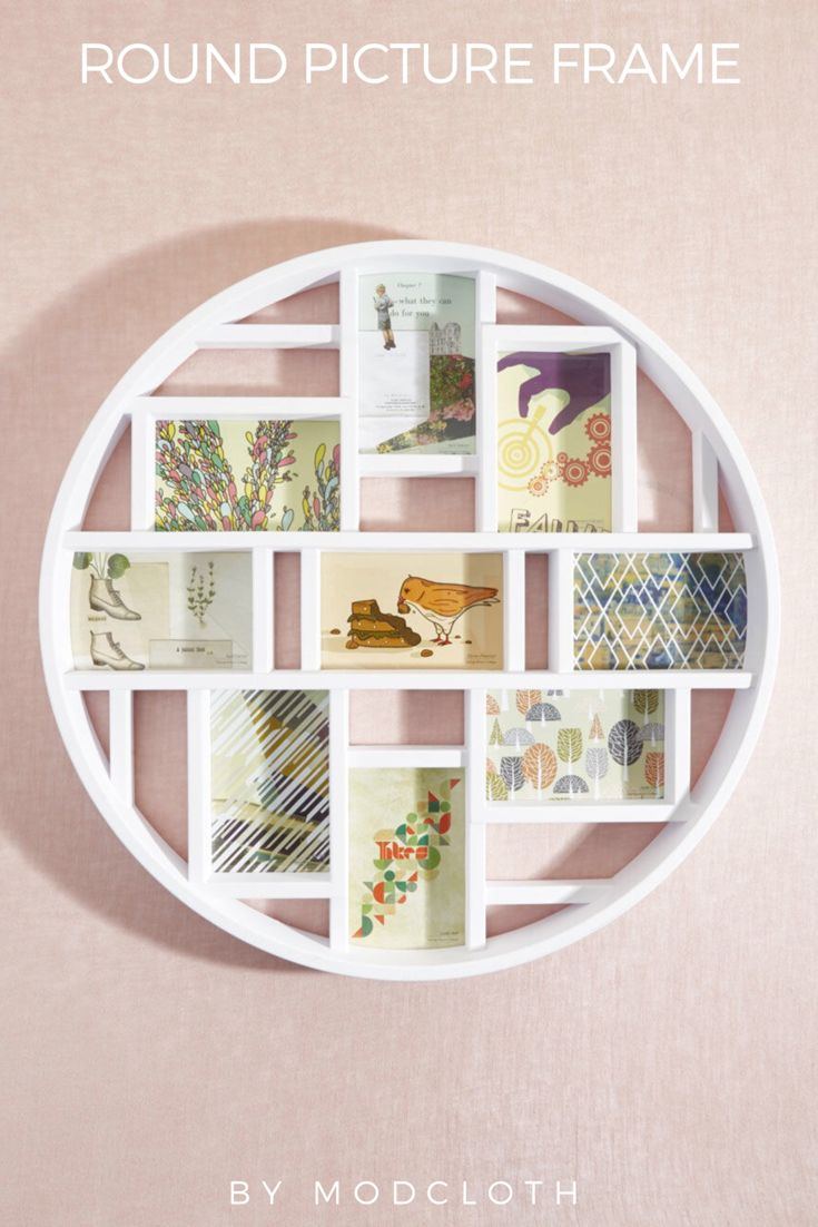 Best 25 round picture frames ideas on pinterest picture i just love this round picture frame roundframe roundpictureframe modcloth home jeuxipadfo Images