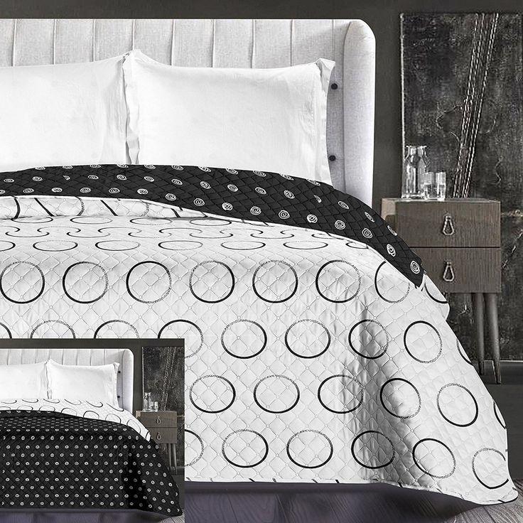 Obojstranný prehoz na posteľ s kruhovým vzorom