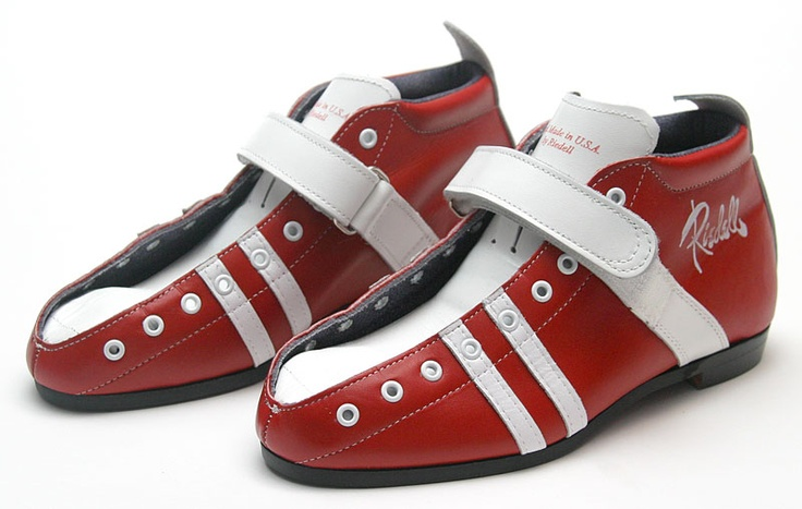 Riedell 265 Boots - Custom Red/White Size 7 In Stock