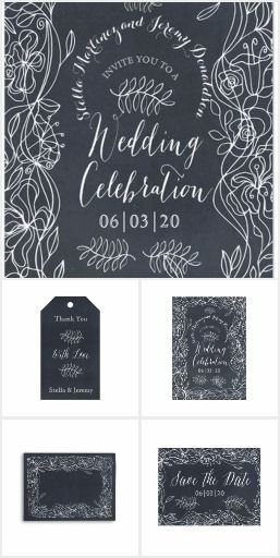 Rustic Chalkboard Wedding Suite