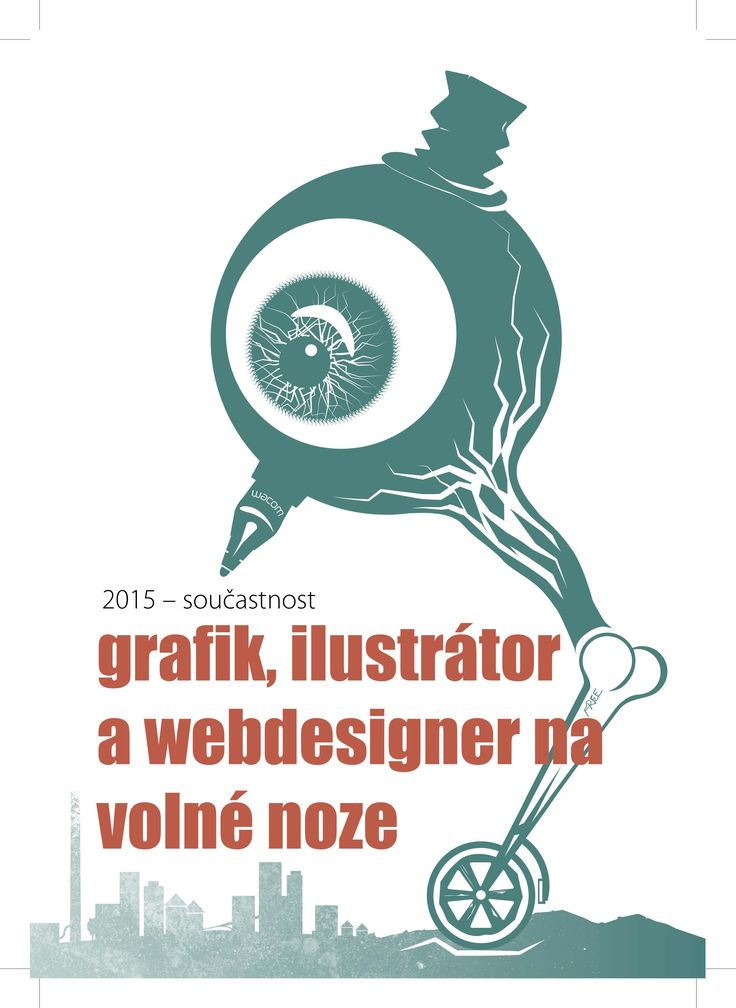 FREELANCE, Graphics for the curriculum vitae of Milan Drobek
