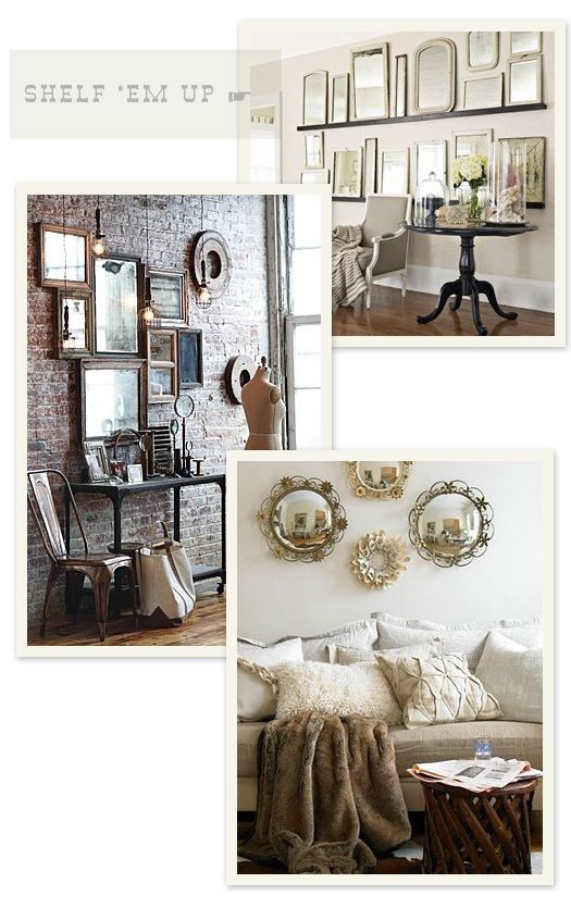 I've been thinking about doing a cluster of mirrors in my guest room.