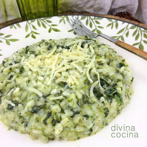 Con esta misma receta de risotto de espinacas puedes preparar risotto de espárragos trigueros o de alcachofas. El proceso y el resto de ingredientes son los mismos.