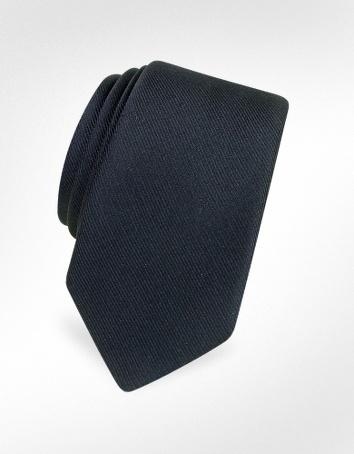 Forzieri Cravatta slim in Twill di seta tinta unita