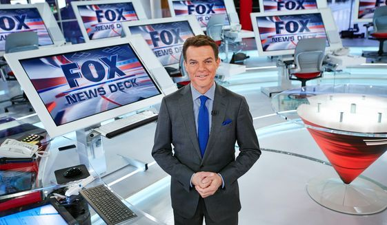 """Fox News Channel, chief news anchor and managing editor of the news division Shepard Smith on the FOX News deck in New York. Smith will anchor a special this weekend about the 10th anniversary of Hurricane Katrina. Fox News begins the television remembrances Friday at 10 p.m. EDT with """"Hurricane Katrina, Storm of a Lifetime."""" (Fox News Channel via AP)"""