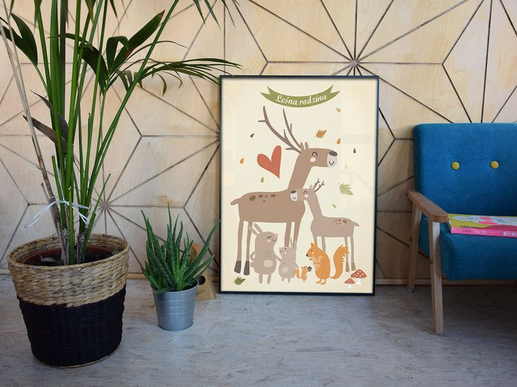 Kids wall decor, poster.