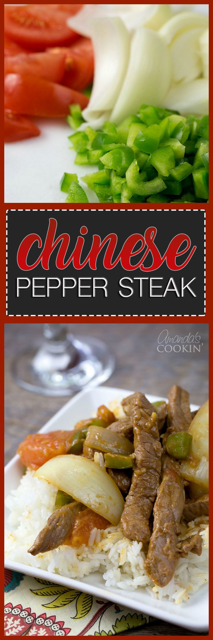 This version of Chinese Pepper Steak was inspired by a takeout restaurant I frequented in high school. If you like making stir fry, you must try this recipe