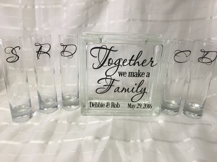 Together We Make A Family Unity Sand Ceremony Set   Blended Family Unity    5 Pouring Vases